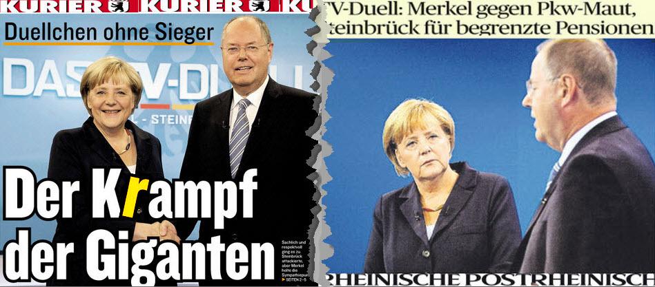 Schlagzeilen Des Tages Das Duell In Bildern Und Stichworten